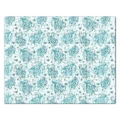 Decorative Floral Paisley Pattern Rectangular Jigsaw Puzzl by TastefulDesigns