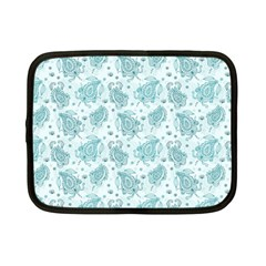 Decorative Floral Paisley Pattern Netbook Case (small)  by TastefulDesigns