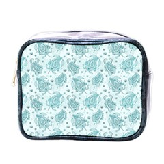 Decorative Floral Paisley Pattern Mini Toiletries Bags by TastefulDesigns