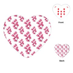 Santa Rita Flowers Pattern Playing Cards (heart)  by dflcprints
