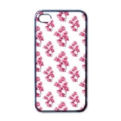 Santa Rita Flowers Pattern Apple Iphone 4 Case (black) by dflcprints