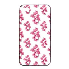 Santa Rita Flowers Pattern Apple Iphone 4/4s Seamless Case (black) by dflcprints