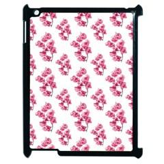 Santa Rita Flowers Pattern Apple Ipad 2 Case (black) by dflcprints