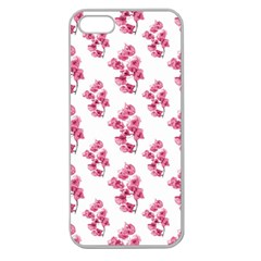 Santa Rita Flowers Pattern Apple Seamless Iphone 5 Case (clear) by dflcprints