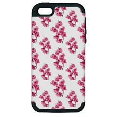 Santa Rita Flowers Pattern Apple Iphone 5 Hardshell Case (pc+silicone) by dflcprints