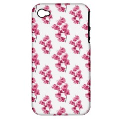 Santa Rita Flowers Pattern Apple Iphone 4/4s Hardshell Case (pc+silicone) by dflcprints