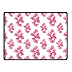 Santa Rita Flowers Pattern Double Sided Fleece Blanket (small)  by dflcprints