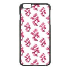 Santa Rita Flowers Pattern Apple Iphone 6 Plus/6s Plus Black Enamel Case by dflcprints