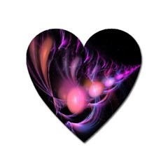 Fractal Image Of Pink Balls Whooshing Into The Distance Heart Magnet by Simbadda