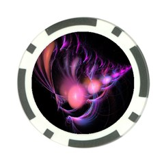 Fractal Image Of Pink Balls Whooshing Into The Distance Poker Chip Card Guard (10 Pack) by Simbadda