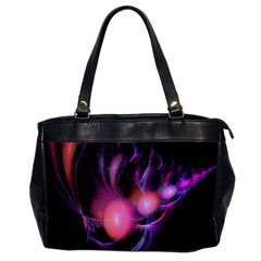 Fractal Image Of Pink Balls Whooshing Into The Distance Office Handbags by Simbadda