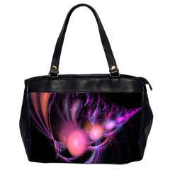 Fractal Image Of Pink Balls Whooshing Into The Distance Office Handbags (2 Sides)  by Simbadda