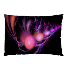 Fractal Image Of Pink Balls Whooshing Into The Distance Pillow Case (two Sides) by Simbadda