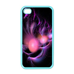 Fractal Image Of Pink Balls Whooshing Into The Distance Apple Iphone 4 Case (color) by Simbadda