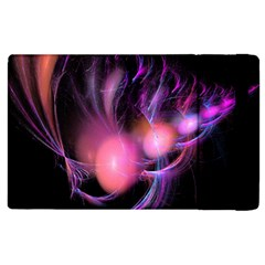 Fractal Image Of Pink Balls Whooshing Into The Distance Apple Ipad 2 Flip Case by Simbadda