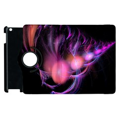 Fractal Image Of Pink Balls Whooshing Into The Distance Apple Ipad 3/4 Flip 360 Case by Simbadda