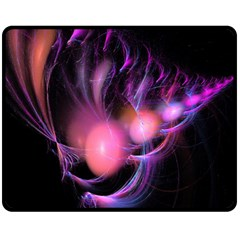 Fractal Image Of Pink Balls Whooshing Into The Distance Double Sided Fleece Blanket (medium)  by Simbadda