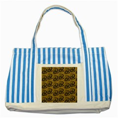 Art Abstract Artistic Seamless Background Striped Blue Tote Bag by Simbadda