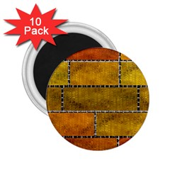 Classic Color Bricks Gradient Wall 2 25  Magnets (10 Pack)