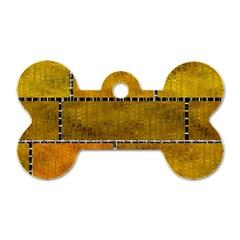 Classic Color Bricks Gradient Wall Dog Tag Bone (one Side) by Simbadda