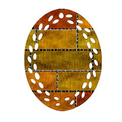 Classic Color Bricks Gradient Wall Oval Filigree Ornament (two Sides) by Simbadda