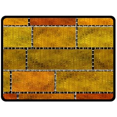 Classic Color Bricks Gradient Wall Double Sided Fleece Blanket (large)  by Simbadda