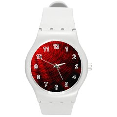 A Large Background With A Burst Design And Lots Of Details Round Plastic Sport Watch (m) by Simbadda