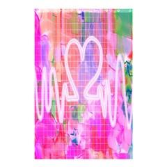 Watercolour Heartbeat Monitor Shower Curtain 48  X 72  (small)  by Simbadda