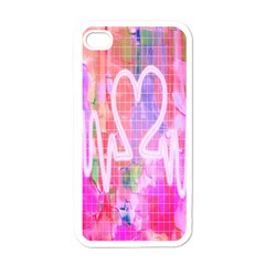 Watercolour Heartbeat Monitor Apple iPhone 4 Case (White)