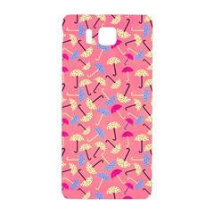Umbrella Seamless Pattern Pink Samsung Galaxy Alpha Hardshell Back Case by Simbadda