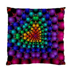 Mirror Fractal Balls On Black Background Standard Cushion Case (one Side) by Simbadda