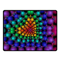Mirror Fractal Balls On Black Background Fleece Blanket (small) by Simbadda