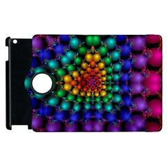 Mirror Fractal Balls On Black Background Apple Ipad 2 Flip 360 Case by Simbadda