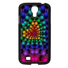 Mirror Fractal Balls On Black Background Samsung Galaxy S4 I9500/ I9505 Case (black) by Simbadda