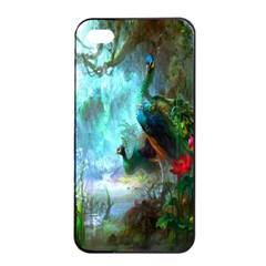 Beautiful Peacock Colorful Apple Iphone 4/4s Seamless Case (black) by Simbadda