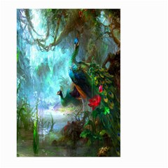 Beautiful Peacock Colorful Large Garden Flag (two Sides) by Simbadda