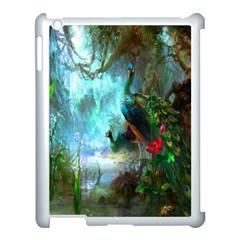 Beautiful Peacock Colorful Apple Ipad 3/4 Case (white) by Simbadda