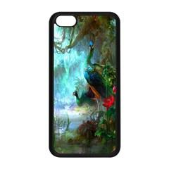 Beautiful Peacock Colorful Apple Iphone 5c Seamless Case (black) by Simbadda
