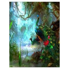 Beautiful Peacock Colorful Drawstring Bag (large) by Simbadda