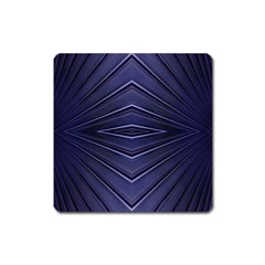 Blue Metal Abstract Alternative Version Square Magnet by Simbadda