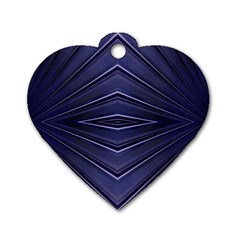 Blue Metal Abstract Alternative Version Dog Tag Heart (one Side) by Simbadda