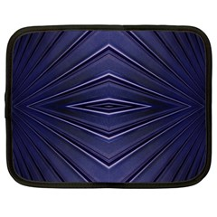 Blue Metal Abstract Alternative Version Netbook Case (large) by Simbadda