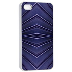 Blue Metal Abstract Alternative Version Apple Iphone 4/4s Seamless Case (white) by Simbadda