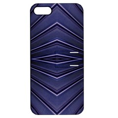Blue Metal Abstract Alternative Version Apple Iphone 5 Hardshell Case With Stand by Simbadda