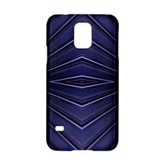 Blue Metal Abstract Alternative Version Samsung Galaxy S5 Hardshell Case  by Simbadda