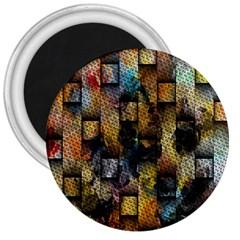 Fabric Weave 3  Magnets by Simbadda