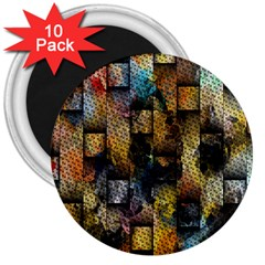 Fabric Weave 3  Magnets (10 Pack)  by Simbadda