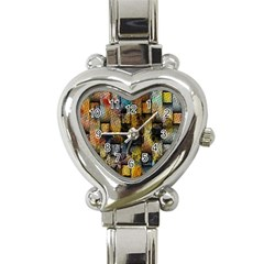Fabric Weave Heart Italian Charm Watch by Simbadda