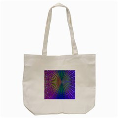 Blue Fractal That Looks Like A Starburst Tote Bag (cream) by Simbadda