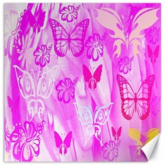 Butterfly Cut Out Pattern Colorful Colors Canvas 16  X 16   by Simbadda